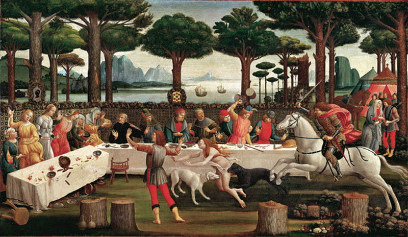 26.--Botticelli_Banquet-in-the-Pinewoods